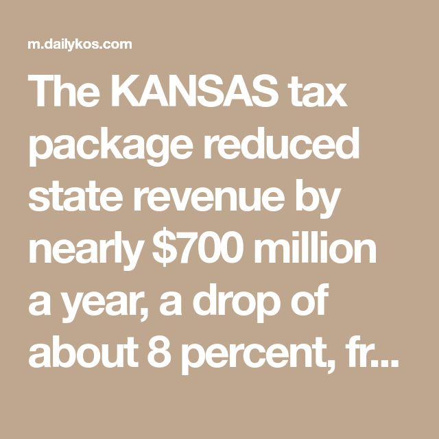 The KANSAS tax package reduced state revenue by nearly $700 million a year, a drop of about 8 percent, from 2013 through 2016, according to the Kansas Legislative Research Department, forcing officials to shorten school calendars, delay highway repairs and reduce aid to the poor. Research suggests the package did not stimulate the economy, certainly not enough to pay for the tax cut. This year, legislators passed a bill to largely rescind the law, saying it had not worked as intended.
