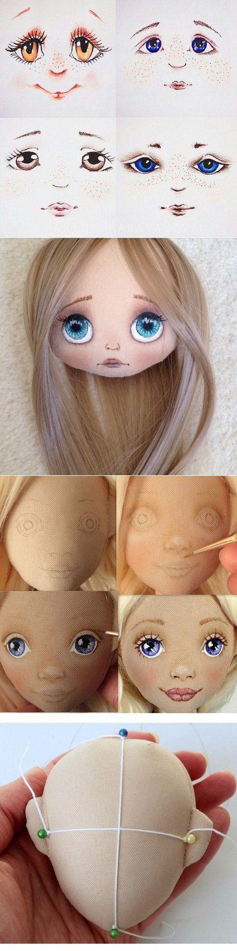 Expresiones y ojos para caras de muñecas