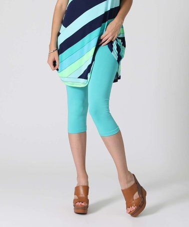 Another great find on #zulily! Mint Capri Leggings #zulilyfinds $8.99