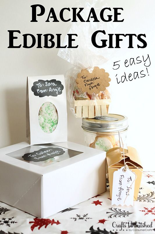 Need some gift packing ideas for edible gifts? Here's 5 ways - A few supplies will have you packaging up delicious treats for neighbors, friends & more!