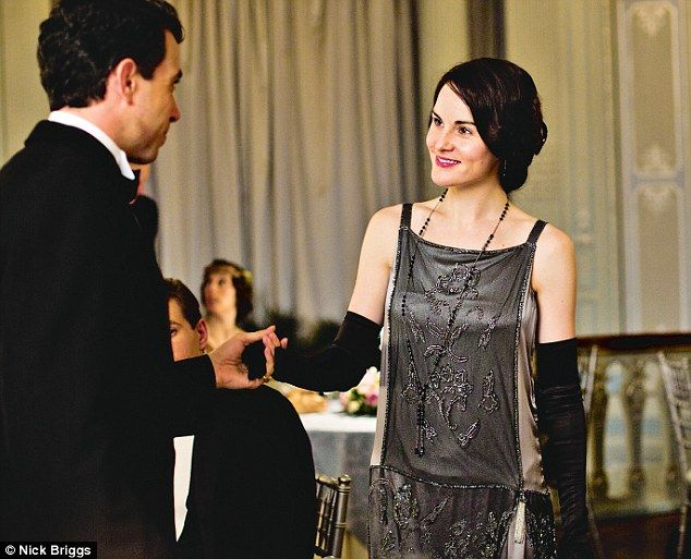 'For eveningwear, Mary is in black or grey or purple, when normally I would put her in blues or deep pinks'. Love the flapper look.
