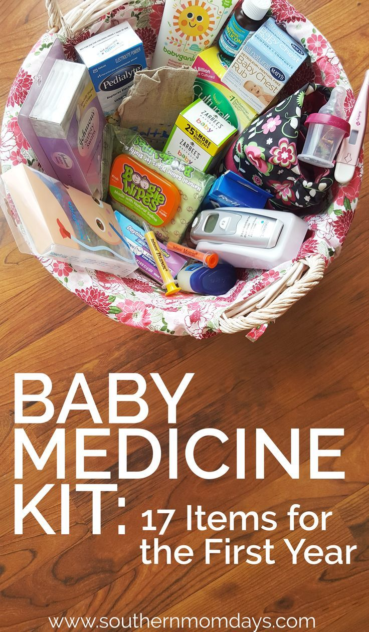 Be prepared during baby's first year with this list of 17 must-have items for your baby medicine kit! (I actually still use all of these, and my daughter's almost 2.) Here's everything I needed in my baby medicine cabinet that first year and beyond for sick baby remedies that help – fast. | sick baby | baby medicine | baby care | baby medicine kit infants | baby checklist #babymedicinekit #babychecklist #babymedicine