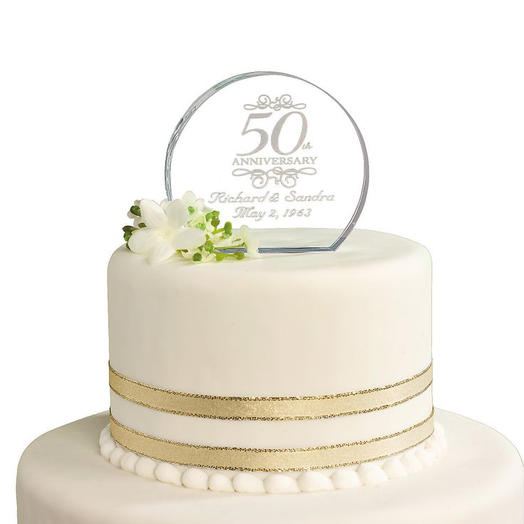 Personalized th anniversary cake topper