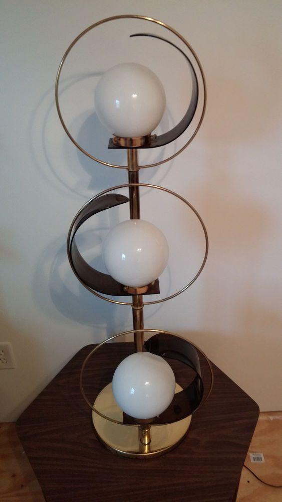 Viac ako 25 najlepch npadov na pintereste na tmu 3 white globe orb lamp table lamp lucite brass sonneman era mid century modern mozeypictures Choice Image