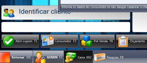 Frente de caixa, Emissor de Cupom fiscal Software homologado PAF-ECF, compatível com inúmeras marcas de impressoras do mercado.
