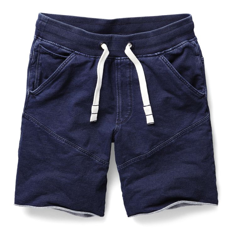 Half pant version of the G-Star Elwood in soft indigo jersey, featuring the same anatomical construction as the original. Waist is elasticated. www.g-star.com