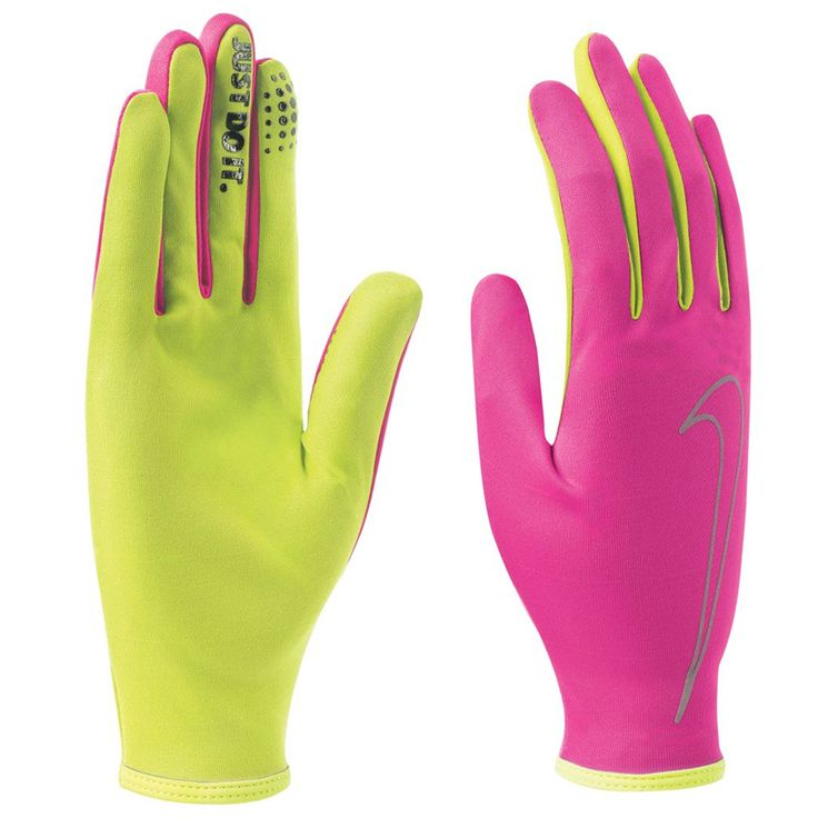 Nike handschoenen Rally Run pink/volt dames bij Hardloopaanbiedingen.nl #nike #running