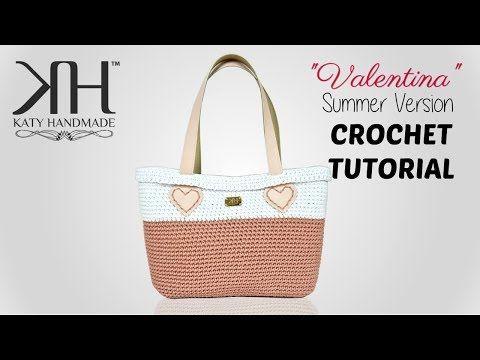 "TUTORIAL BORSA UNCINETTO ""Valentina Summer"" - Crochet Bag ● Katy Handmade - YouTube"