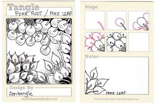 BEEZ in the Belfry: Tangle of the Week - Poke Root and Poke Leaf