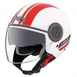 Casco Riviera V2 Pure ( blanco/rojo)