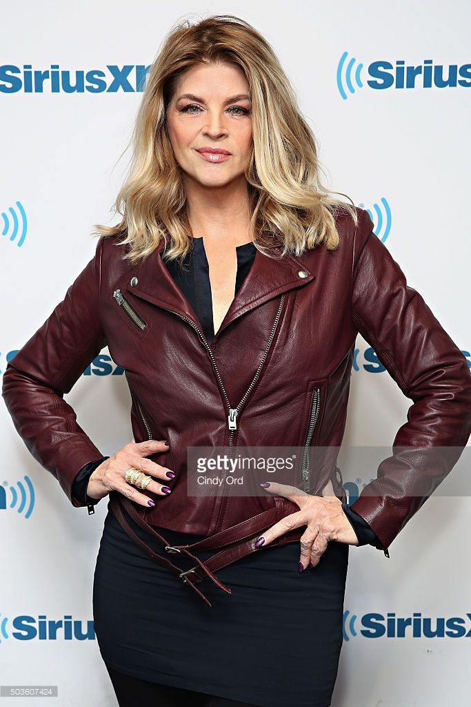 Actress Kirstie Alley visits the SiriusXM Studios on January 6, 2016 in New York City.