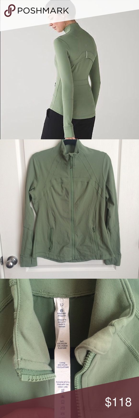 Lululemon Desert Olive Define Jacket 12 Size 12. Excellent used condition. Worn 1-2x. Color is desert olive.    Price firm.   Lots of Lululemon, Nike and makeup items in my closet, so please check it out! Thanks for looking! lululemon athletica Jackets & Coats Blazers