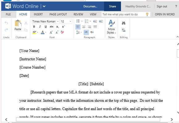 Image Result For Mla Format Template Paper Template Templates