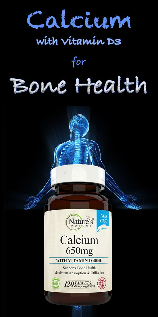Calcium 650 with Vitamin D-3 for Bone Health - Wellness Supplement