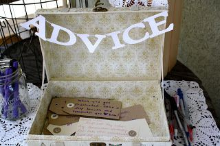 Bridal shower ~ Advice Box i think i would want something like this for my bridal shower..