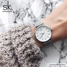 #Woomen #Watch  SK Super Slim Sliver Mesh Stainless Steel Watches Women Top Brand Luxury Casual Clock Ladies Wrist Watch Lady Relogio Feminino | 32.92 $ | Best price guarantee!