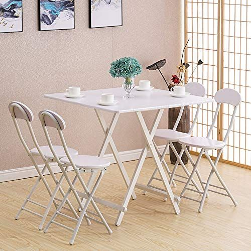 Yxx Home Heavy Duty Wood Kitchen Folding Dining Table And 4