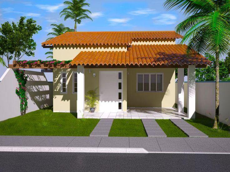 10 fachadas para casas simples