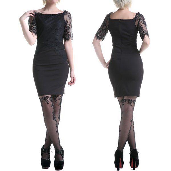 #vestido negro con #encaje