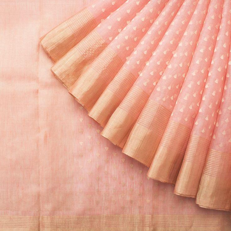 Urdir Handwoven Linen Silk Sari 1014860 - Parisera