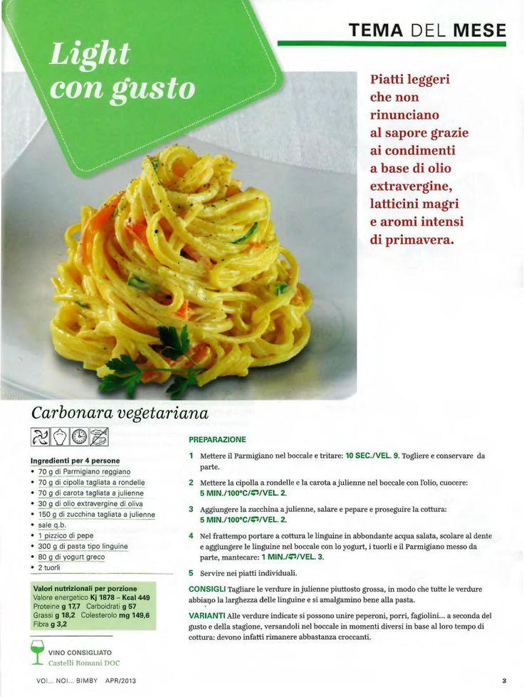 Rivista in abbonamento di Aprile 2013 di ricette per il Bimby della Vorwerk.