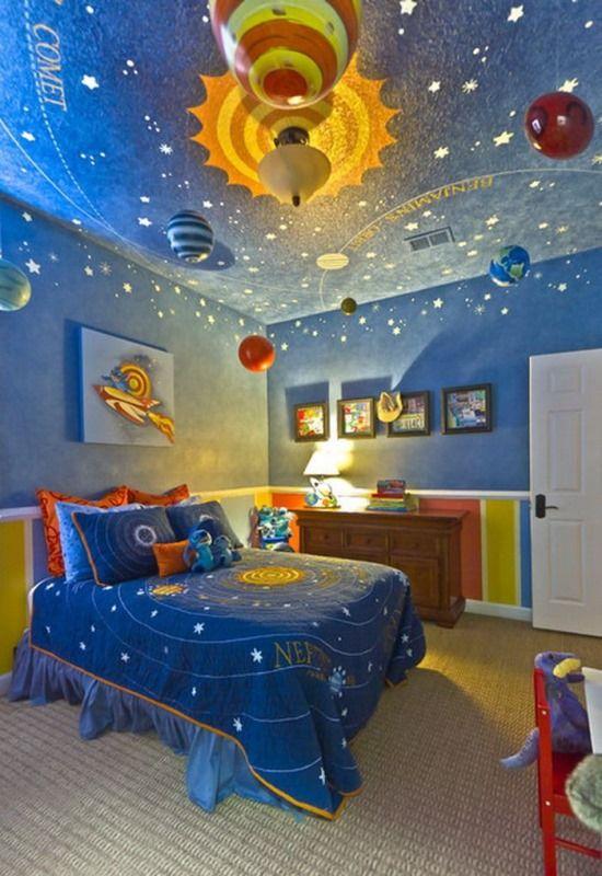 Детская комната на тему космоса