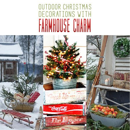 If you are looking for some Ideas and Inspiration on how to decorate you Outdoor Space...check out our Outdoor Christmas Decorations with Farmhouse Charm!!!