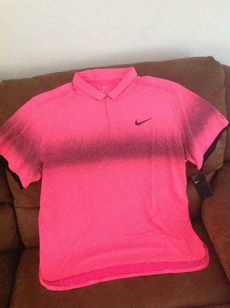 nike roger federer pink tennis polo shirt NWT size 2XL mens | Sports Mem, Cards & Fan Shop, Fan Apparel & Souvenirs, Tennis | eBay!