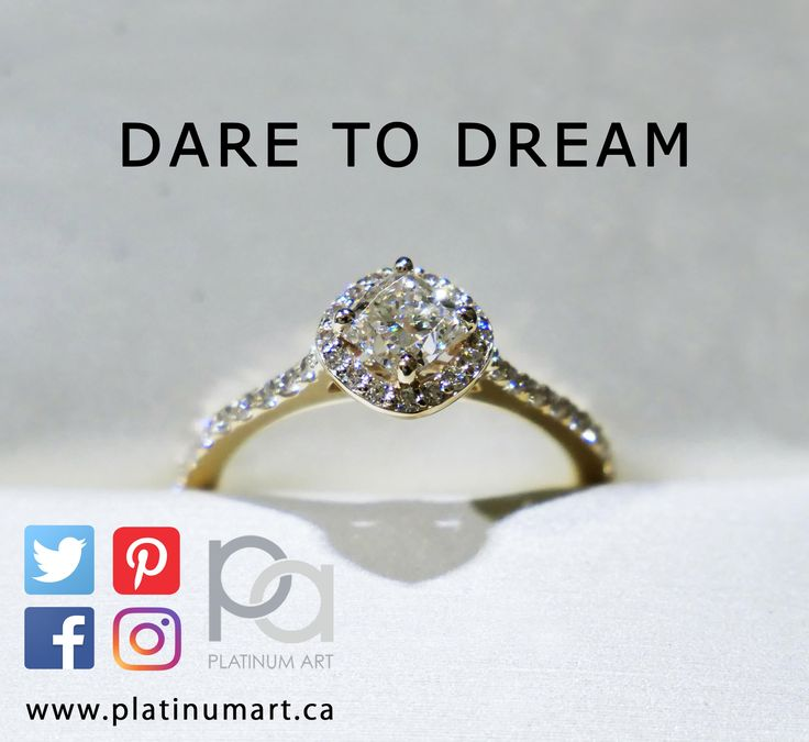 For the new year, dare to dream. Don't let anything hold you back.  www.platinumart.ca  #PlatinumArt #jewelry #inspiration #SundayFunday #dream #DreamBig #love #solitaire #halo #diamonds #art #love #modernbride #engagament #ring #fancy #fashion #style #art