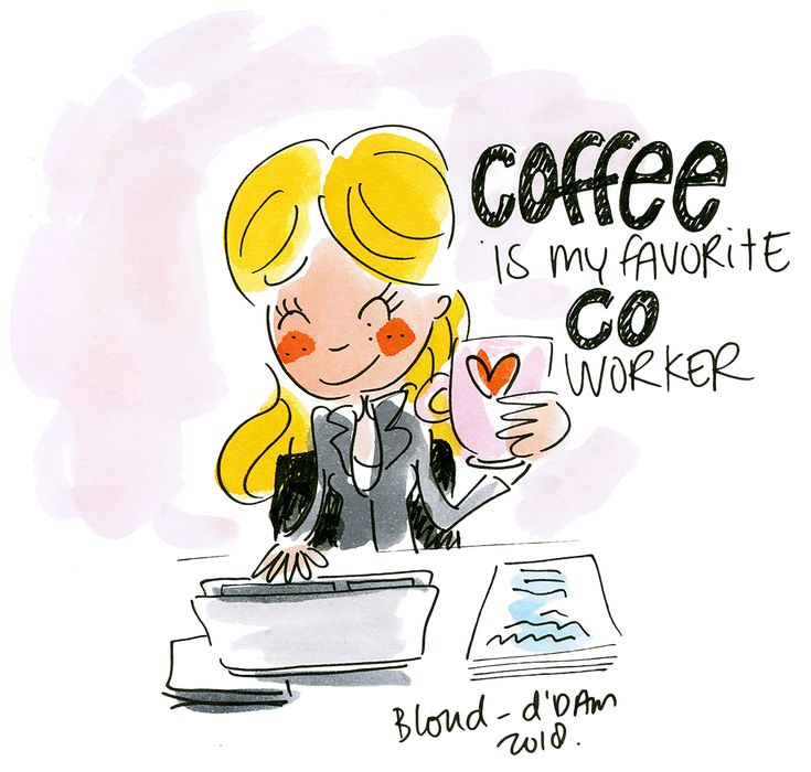 Coffee is my favorite co worker! By Blond-Amsterdam