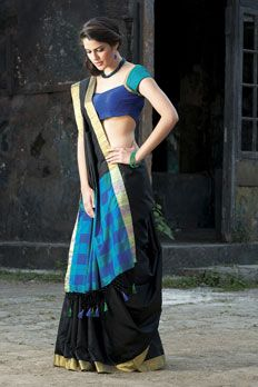 Handloom saree weaved in silk fabric, Blouse as seen is optional.