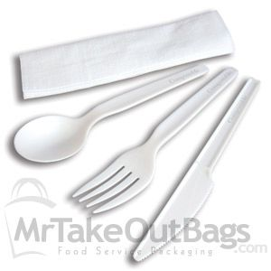 An ideal wrapped cutlery set for all different occasions from parties to work functions. Go green-friendly with our compostable cutlery line!