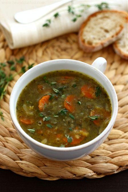 Zupa z soczewicy i zielonego (suchego) groszku