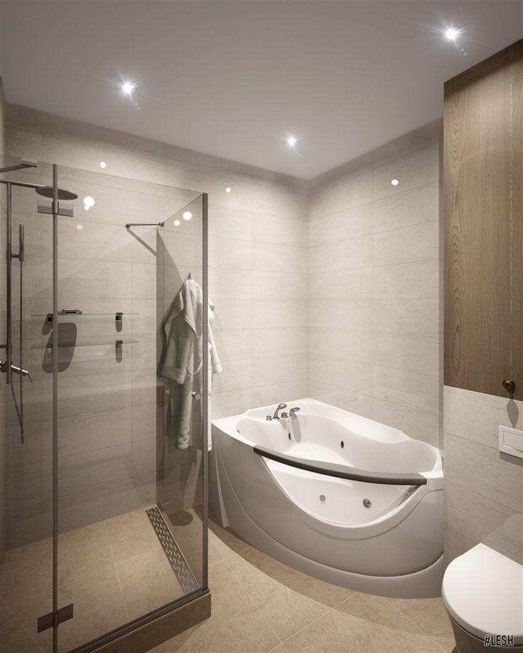 Современная ванная комната с душем Студия Lesh дизайн