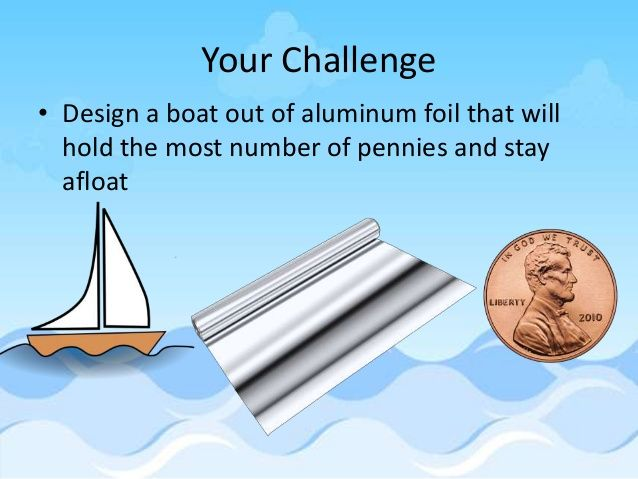 Image result for foil boat penny stem challenge | Stem lesson ...
