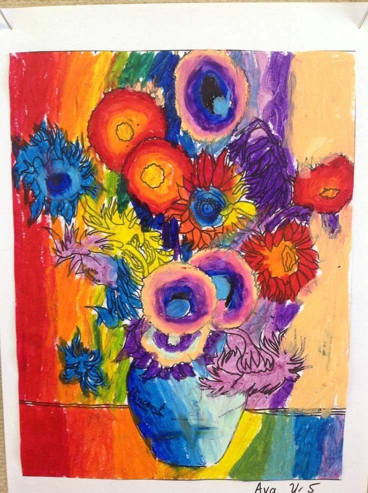 Year 5 Van Gogh sunflowers