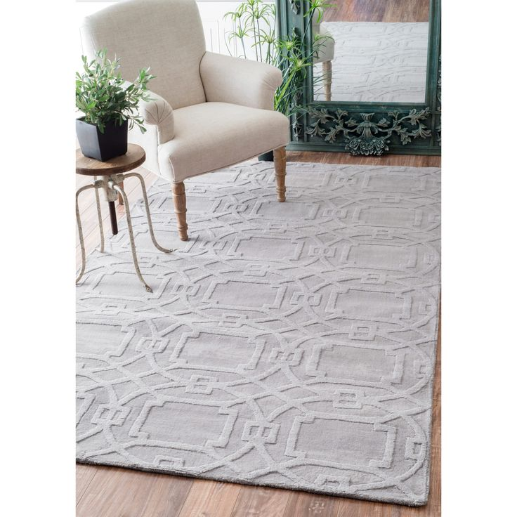 NuLOOM Handmade Abstract Trellis Wool Rug 76 X 96 By Nuloom
