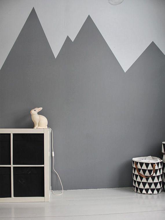 Estampa zigzag pintada na parede - dcoracao.com - blog de decoração