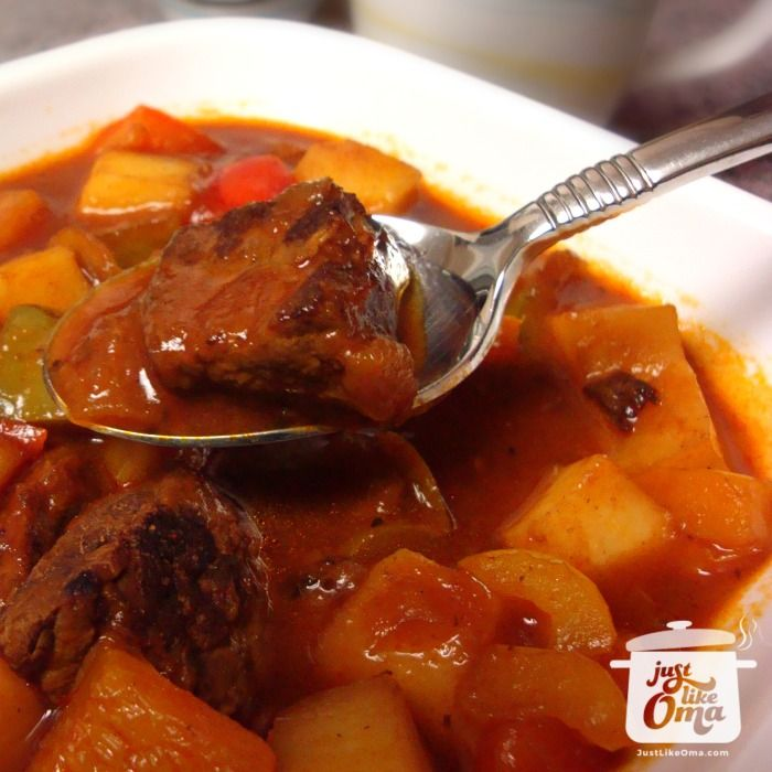 Traditional German Goulash Soup - check this out: http://www.quick-german-recipes.com/goulash-soup.html ❤️ Like it! Share it!   Pin it! Make it! Enjoy it!