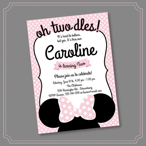 get 20+ minnie mouse birthday invitations ideas on pinterest, Party invitations