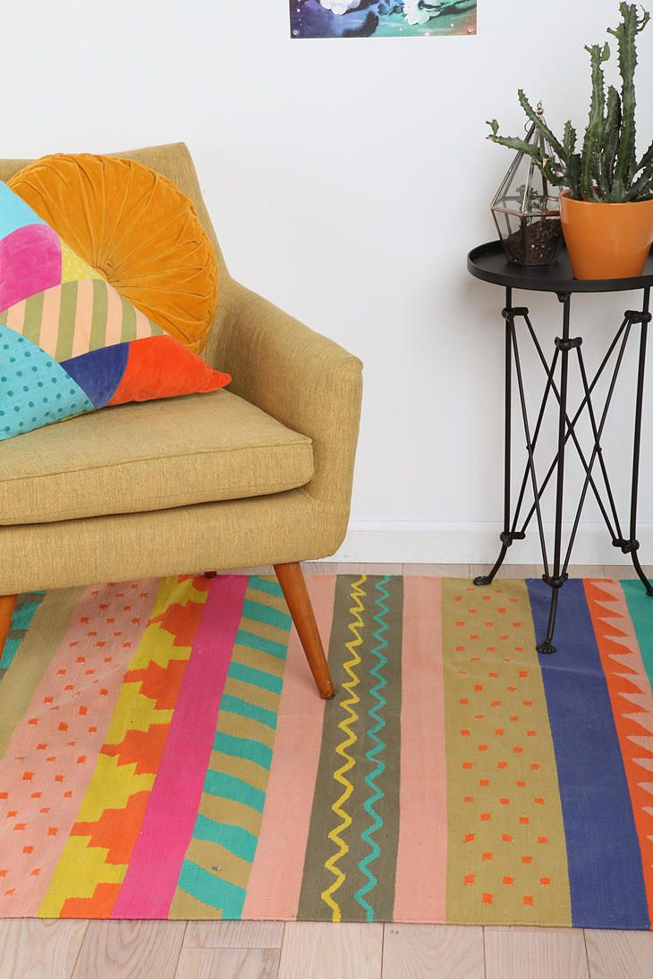 best  tribal rug ideas on pinterest  funky rugs living room  - beci orpin striped tribal rug