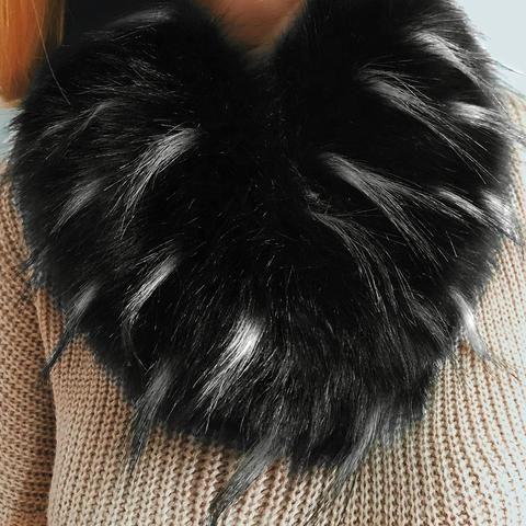 5a705c1008817 Winter Neck Warmer Scarves Faux Fur Collar Scarf Women Warm Coat Hairy Soft Fox  Fur Cape