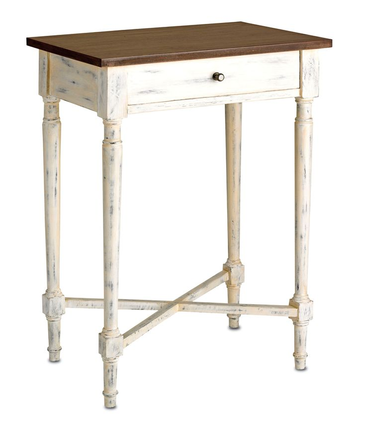 Currey   Company Brewster Side Table in White Wash. 53 best images about Coastal side and accent tables on Pinterest
