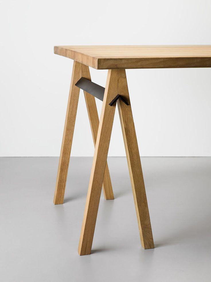 Slot trestle trestle table furniture and put together for Furniture you put together