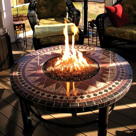 45 Quot Round Cocktail Fire Pit Fire Pit Tables Fire Pit