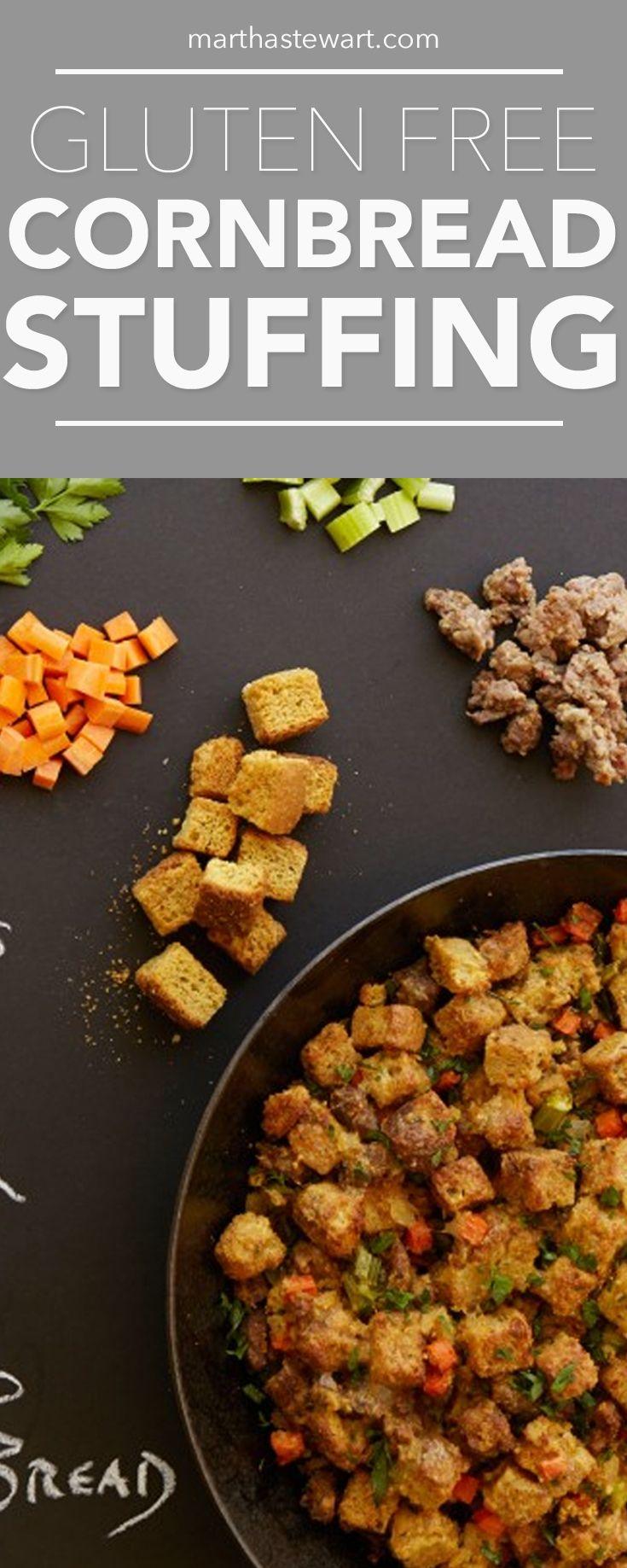 Gluten-Free Cornbread Stuffing   Martha Stewart Living