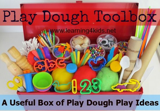 Play Dough Toolbox Series on Learning4kids - Our Play Dough Toolbox aims at providing a useful box of ideas for playing with play dough. You will find simple, easy to set up, fun ideas that promote learning and development through hands-on playing! {learning4kids.net}