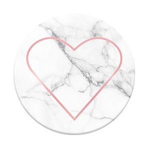"""Popsockets """"Stony Heart"""" design in the Good Vibes collection (rose gold on marble)"""