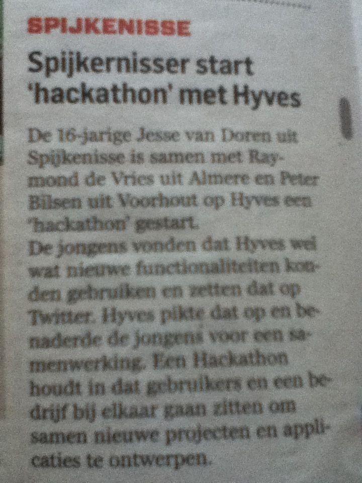 Jesse van Doren - Algemeen Dagblad (AD) Hyves Hackaton