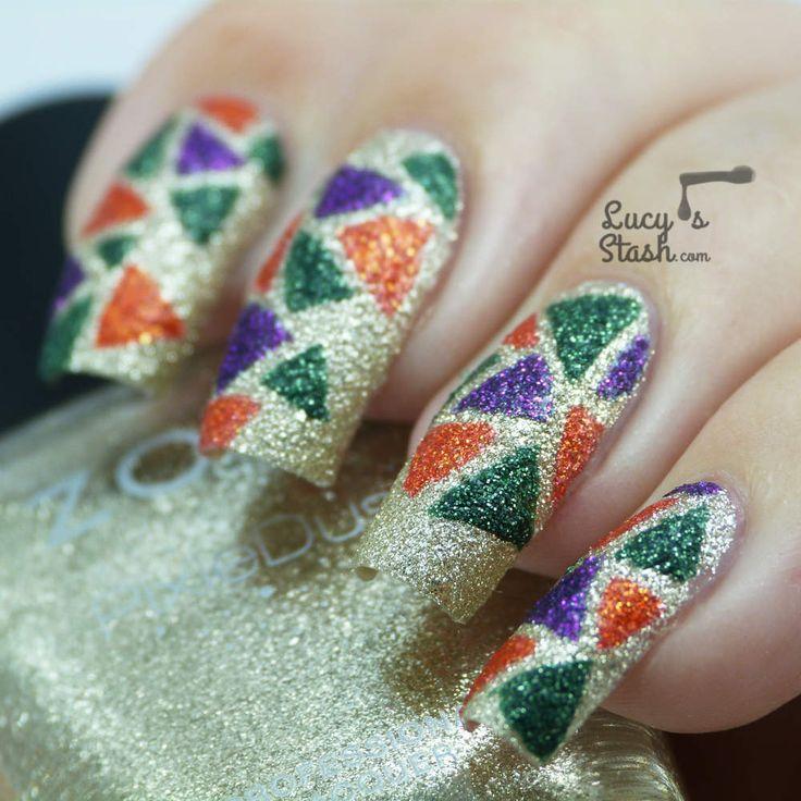 203 best glitter nail art images on pinterest glitter nail art cool nail art lucys stash prinsesfo Images